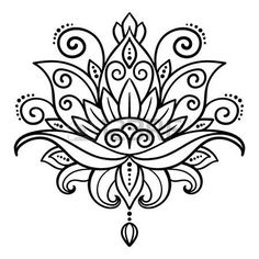 Lotus Flower Tattoo Designs Stock Photos And Images Lotus Flower Tattoo Design, Lotus Flower Mandala, Mandala Art, Lotusblume Tattoo, Lotus Tattoo, Rangoli Designs, Mehndi Designs, Hand Embroidery Designs, Embroidery Patterns