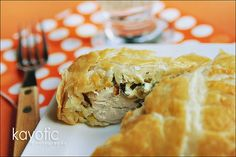 Kaytucky Chicken.  Stuffed chicken with cream cheese, bacon and onion wrapped in a pastry.