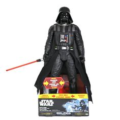 """Amazon.com: Star Wars Big Figs Deluxe 20"""" Darth Vader Action Figure with Lightsaber: Toys & Games"""