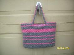 Easy Crochet Tote | AllFreeCrochet.com