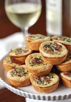 "Pancetta and Parmesan Tassies are ""little cups"" they taste delicious! [ Vacupack.com ] #appetizers #quality #fresh"