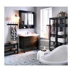 "HEMNES Mirror cabinet with 2 doors, black-brown stain - black-brown stain - 40 1/2x6 1/4x38 5/8 "" - IKEA"
