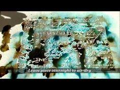 Embossing Resist Starburst treasure background Lindy's Stamp Gang