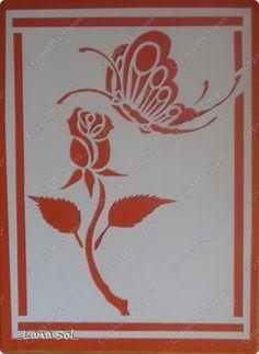 Картина, панно Вырезание, Вырезание силуэтное, Вытынанка: Розы Бумага, Клей, Тушь, Фанера. Фото 1
