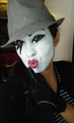 create your own unique mime look Mime Makeup, Halloween Face Makeup, Female Clown, Costume Ideas, Costumes, Theatrical Makeup, Halloween Fashion, Clowns, Violet
