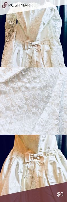 ARRIVING soon! 50s wedding gown COMING SOON! 💕💕💕 VINTAGE 50s wedding gown! Very FULL circle skirt, long sleeves, delicate beading, gorgeous LACE, satin & tulle, OH MY! 🇺🇸 UNION MADE!  Gown will be properly photographed & re-posted once it returns from dry cleaning! PLEASE SHARE AWAY & post any questions or comments, thank you! Vintage Dresses Wedding
