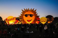 Carolina BalloonFest's traditional Saturday Evening attraction! photo The Destination Magazine
