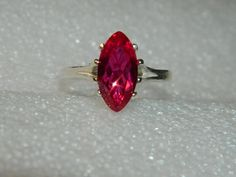 Ruby ring marquis cut beauty by JewelrybyDecember67 on Etsy, $80.00