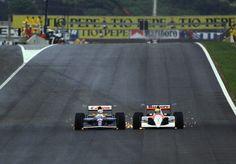 Nigel Mansell and Ayrton Senna, Spanish GP 1991
