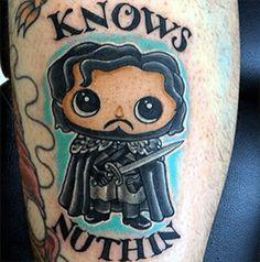 Jon Snow Cartoon | Game of Thrones Tattoo