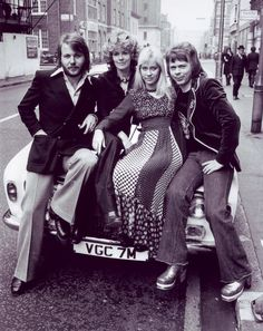 """On April 8th ABBA headed for London. """"Waterloo Time"""" 1974"""