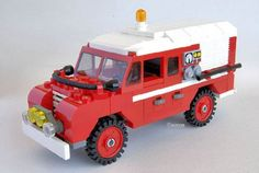 Land Rover Series 3 LWB Fire Truck: A LEGO® creation by Joao Campos : MOCpages.com