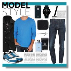 """"""":D"""" by dzeniita10 ❤ liked on Polyvore featuring Dsquared2, Lucky Brand, NIKE, Nixon, Moshi, Versace, Le Coq Sportif, mens, men and men's wear"""