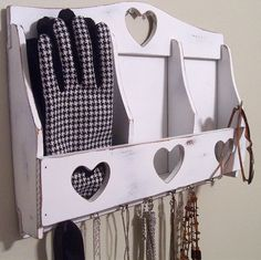 Custom for meganginna Sweetheart Shabby Chic Wooden Organizer-Personalized