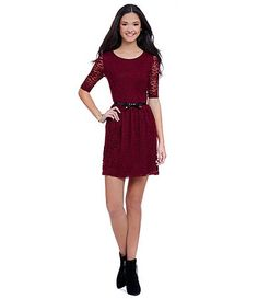 Available at Dillards.com #Dillards I like the laciness and the sleeves, she might need to wear tights because of the length. What do you guys think?