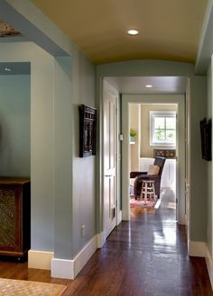 Baseboards:  Flat stock trim for the baseboards.