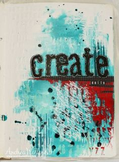 """Create Daily"" art journal page"