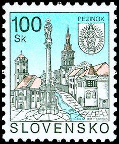 POSTAGE STAMP - Pezinok Interesting Buildings, Stamp Collecting, Postage Stamps, Ephemera, Embroidery, European Countries, Czech Republic, Envelopes, Postcards