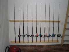 Ideas For A Wall Mounted Fishing Rod Reel Holder The