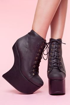 Jeffrey Campbell heel-less. I'd like to TRY and walk in these.
