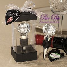 Souvenir Pernikahan Unik : Crystal Ball Bottle Stopper