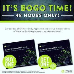 Une boîte de wraps achetée = une offerte ! Buy one = get one ! #itworksglobal #itworks #wrap #wraps #skinny #fitness #health #weightloss #weightlossjourney #fat