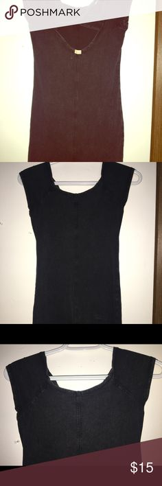 Dark grey crosses back mini dress. Stretchy comfortable. Cotton and spandex. Billabong Dresses
