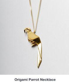Origami parrot collar