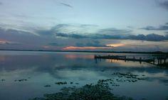 Sunset over Lake Eustis at the Eustis Lake Walk Eustis, Florida