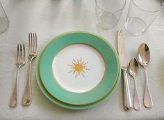 Antique Star Porcelain Plate
