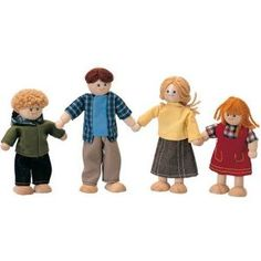Plan Toy Doll House Doll Family