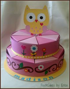 Happi Owl Favor Box Cake - Please Contact Me for a Price Quote