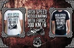 (Camiseta High Speed With Force). Visite https://www.cavalariastore.com.br e conheça esta camiseta com a arte exclusive desenvolvida pela Cavalaria de Aço!
