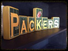 Green Bay Packers Blocks and Home Decor. I make customized blocks and signs! Che… – From Parts Unknown Packers Baby, Go Packers, Packers Football, Football Signs, Greenbay Packers, Football Decor, Football Crafts, Fall Football, Green Bay Packers Gifts