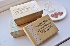 cute way to use washi tape and stamps