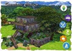 All4Sims: Baumu House by Chalipo • Sims 4 Downloads