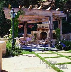 pergalo with fireplace | ... having a pergola and fireplace. I showed you this inspiration picture