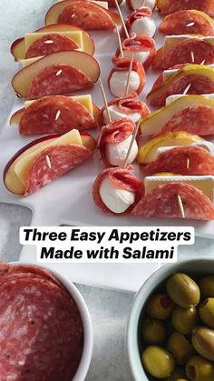 Cold Appetizers, Finger Food Appetizers, Appetizers For Party, East Appetizers, Easy Finger Food, Finger Food Recipes, Snacks For Party, Toothpick Appetizers, Tapas Party
