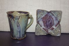 Terry Acker Pottery mug and small dish from Nan Gunnett & Co in Hummelstown, PA