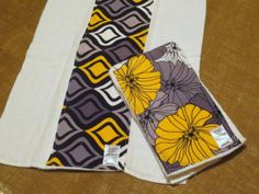 SALE Set of 2 Burp Cloth Baby Burp Cloth Yellow and by LilLabbee, $7.00