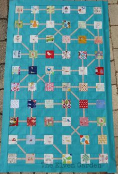 A story quilt - weave your way along the lines to tell a story. Once Upon a Time | The Elven Garden