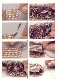 Beaded sea urchin bracelet by XxxWithyouinmindxxX on Etsy Beaded Bracelet Patterns, Woven Bracelets, Seed Bead Bracelets, Handmade Bracelets, Beading Patterns, Handmade Jewelry, Bijoux Diy, Bead Jewellery, Bead Crochet