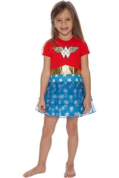 Shop for Girls' Wonder Woman 'Costume Logo' Pajama Nightgown - Multi - at best price, a large range of designer Girls' Nightgowns & Sleep Shirts discount sale. Cute Nightgowns, Dc Comics Girls, Cotton Sleepwear, Wonder Woman Logo, Girls Pajamas, Costumes For Women, Minimalist Fashion, Night Gown, Toddler Girl
