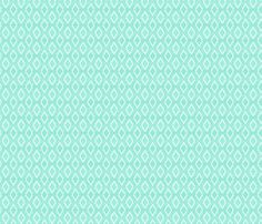 Aztec Crosshatch Mint SMALL scale fabric by leanne on Spoonflower - custom fabric
