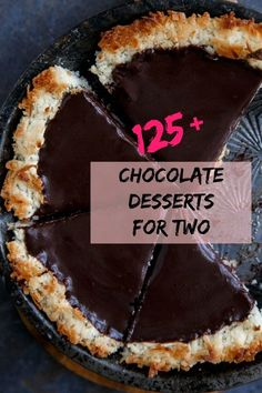 I don't mean to brag, but dessert for two is my bag. I've got over 125 chocolate desserts for two for you and your sweetie on Valentine's Day. Save this for future date nights in and anniversary celebrations! @DessertForTwo