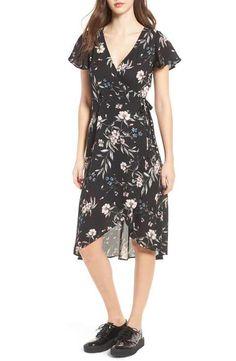 Socialite Floral Print Wrap Dress