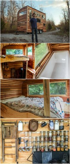 Self-Proclaimed Introvert Builds Nearly Chemical-Free Tiny House on His Own - Daniel Joseph Weddle describes himself as Hoosier boy who is by nature introverted with an empathetic nature. Desiring to live on his own and in a home that respects the nature that so greatly inspires him, he learned how to build on his own and ended up with the charming and practically chemical-free Snails Away tiny house.