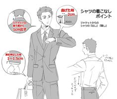 スーツの描き方の基本 [5]