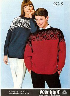 "0972 S, Peer Gynt fra Sandnes Uldvarefabrik, Sandnes. ""HAUGSETER"" Norwegian Knitting, Nordic Style, Sweater Weather, Men Sweater, Graphic Sweatshirt, Sweatshirts, Pattern, Sweaters, Sorting"