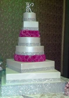 2014 Trend: 86 Glam Wedding Cakes | weddings | Pinterest | Silver ...